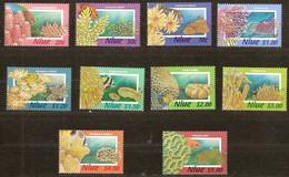 Niue 1996 Yvertn° 656-665 *** MNH Cote 40 Euro Faune Flore Coraux Poissons - Niue