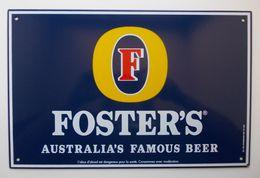 """Plaque émaillée - Bière """" FOSTER'S """" - Plaques Publicitaires"""