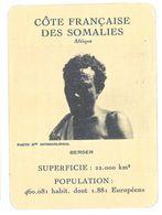 Carte Cameroun - Côte Française Des Somalies - Berger - Géographie