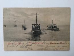 AK  WARSHIP   KRIEGSMARINE   TORPEDOBOOTSGRUPPE  PULA  POLA   1900 - Guerra