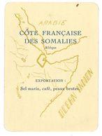 Carte Cameroun - Côte Française Des Somalies - Exportation - Géographie