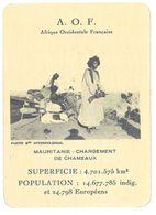 Carte A.O.F. Mauretanie, Chargement De Chameaux - Géographie