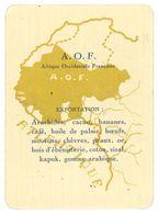 Carte A.O.F. Exportation - Géographie