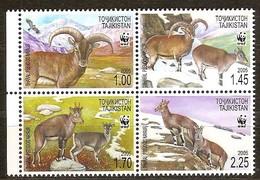Tadjikistan 2005 Yvertn° 296-299 *** MNH Cote 8,00 Euro Faune WWF - Tadjikistan