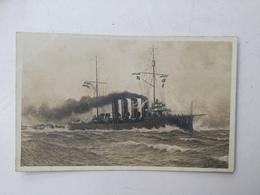 AK   SHIP  BOAT  SCHIFFE  S.M.S.  SPAUN - Guerra