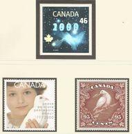 Kanada 1999: Satz Nr. 1882-1884** - Jahrtausendwende: Briefmarken Im Wandel Der Zeit #B2 - Postal History