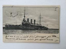 AK   WARSHIP  BOAT  KRIEGSCHIFFE  S.M.S. KAISER KARL VI  1900 - Guerra