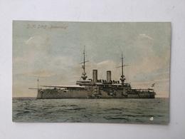 """AK   WARSHIP  BOAT  KRIEGSCHIFFE  S.MS. """" BABENBERG """"  1910. - Guerra"""