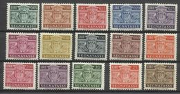1945 San Marino - Saint Marin  SEGNATASSE 15 Valori (manca 10L/except 10L) MNH** - Segnatasse
