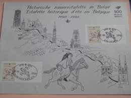 HISTORISCHE ZOMERESTAFETTE In BELGIË - ESTAFETTE HISTORIQUE D'été ( 21 & 22 -06-1990 EUPEN / MECHELEN Zie Foto's ) ! - Erinnerungskarten