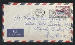 Jamaica 1958 Slogan Postmark Air Mail Postal Used Cover Jamaica To UK - Jamaica (1962-...)