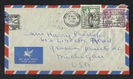 Jamaica 1953 Slogan Postmark Air Mail Postal Used Cover Jamaica To U A S - Jamaica (1962-...)