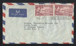 Jamaica 1956 Slogan Postmark Air Mail Postal Used Cover Jamaica To UK - Jamaica (1962-...)
