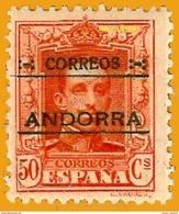 Andorra Andorre 1928 Yt 9 Dentelé 11,5 à 13,5 Avec Charnière, Edi 9, Mi 9, Sn 9 - Andorra Española