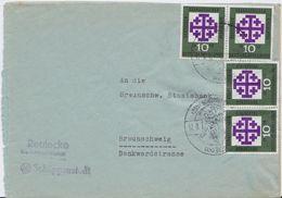 Bund Mi 314 Evangelischer Kirchentag (4) MeF Bf Schöppenstedt 1959 - Briefe U. Dokumente