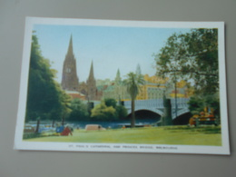 AUSTRALIE VICTORIA MELBOURNE ST. PAUL'S CATHEDRAL AND PRINCES BRIDGE - Melbourne