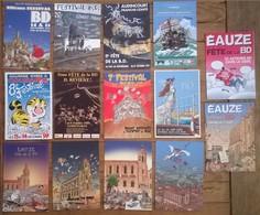 Lot De 14 Cartes Postales Salons & Bourses & Festivals / Bandes Dessinées EAUZE /b - Bourses & Salons De Collections