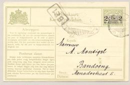 Nederlands Indië - 1930 - 2 Cent Opdruk Op 1 Cent Verhuiskaart G7a Van Garoet Naar Bandoeng (seint Via Radio) - Nederlands-Indië