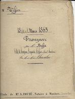 1865 Transport Busse Ou Buste Turpin Legrand Tissier Santerre Chevalier (7 PAGES - Ref751451141522) - Vieux Papiers