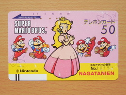 Japon Japan Free Front Bar, Balken Phonecard / 110-8633 / Nintendo - Super Mario - BD