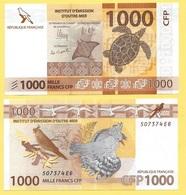 French Pacific Territories 1000 Francs P-6 2014 UNC - Territoires Français Du Pacifique (CFP)