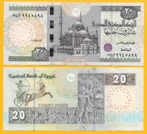Egypt 20 Pounds P-65 2017 (Date 13.8.2017) UNC - Egypt