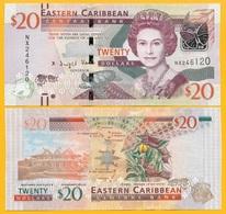 East Caribbean States 20 Dollars P-53b 2016 UNC - Caraibi Orientale