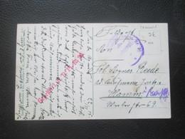 Alsace Lorraine - METZ 1915 - Cacht De Censure Rouge Régiment De Pionniers 20 - Timbres
