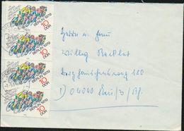 DDR 1979 Michel Nr. 2433 4x (2 2er Streifen)  Brief Von Magdeburg Nach Neuss, Kinder- Und Jugendspartakiade Berlin - DDR