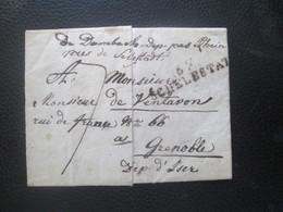 Alsace Lorraine - Pli De Dambach - Marque Postale 67 SCHELESTAT - Sammlungen (im Alben)
