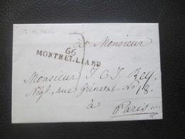 Alsace Lorraine - Marque Postale 66 MONTBELLIARD - 1814 - Sammlungen (im Alben)