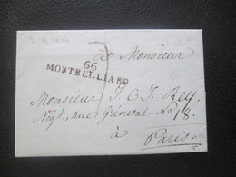 Alsace Lorraine - Marque Postale 66 MONTBELLIARD - 1814 - Stamps