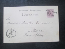 Alsace Lorraine - MÜNSTER - COLMAR Bahnpost - 1881 - Stamps