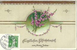 """AK  """"Herzlichen Glückwunsch Zu Neuen Jahre""""  (Stempel  MALANS)          1915 - Suisse"""