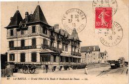 44 .. LA BAULE ... GRAND HOTEL DE LA BAULE ET BOULEVARD DES DUNES  .. 1918 ... TRAMWAY - La Baule-Escoublac