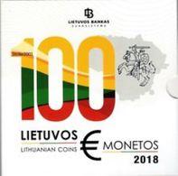 LItauen 2018   BU Set Met 8 Munten    ZEER Zeldzaam - Extreme Rare  UNC Uit De BU -du Coffret  5.000 Ex !! - Lituania