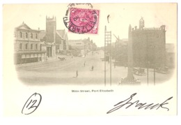 SOUTH AFRICA - PORT ELIZABETH - MAIN STREET - STAMP - MAILED TO ITALY 1902 ( 2771 ) - South Africa