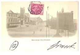 SOUTH AFRICA - PORT ELIZABETH - MAIN STREET - STAMP - MAILED TO ITALY 1902 ( 2771 ) - Afrique Du Sud