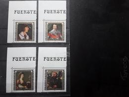 LIECHTENSTEIN 1982 Serie Souverains Célèbres,  COIN DE FEUILLE   Yvert 750 / 753, Neufs ** MNH  LUXE ! - Liechtenstein