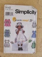 Patron Robe Tablier Culotte Et Chapeau Pour Petitenfant - Simplicity Réf 9142 - - Patrons