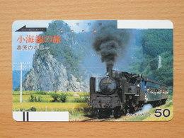 Japon Japan Free Front Bar, Balken Phonecard / 110-8725 / Steam Train - Trains