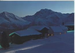 Kapelle Riederalp, Hübschhorn Und Fletschhorn Im Winter En Hiver, Abendstimmung - Photo: Klopfenstein - VS Valais