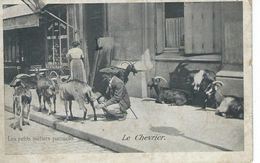 CPA - Les Petits Métiers Parisiens - LE CHEVRIER - Voir Dos Pub Chicorée Leroux - Très Bon état - - Marchands Ambulants