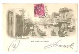 SOUTH AFRICA - PORT ELIZABETH - MAIN STREET - STAMP - MAILED TO ITALY 1902 ( 2772 ) - South Africa