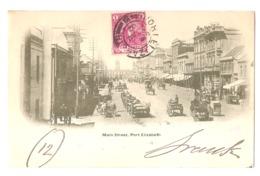 SOUTH AFRICA - PORT ELIZABETH - MAIN STREET - STAMP - MAILED TO ITALY 1902 ( 2772 ) - Afrique Du Sud