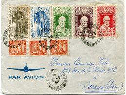 INDOCHINE LETTRE PAR AVION DEPART CANTHO 3-9-48 COCHINCHINE POUR LA FRANCE - Lettres & Documents