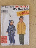 Patron Veste Et Pantalon Pour Enfant  Simplicity 8296 - Patrons