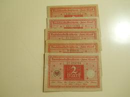 Lot 5 Banknotes 2 Mark 1920 Germany - Monete & Banconote