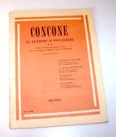 Musica Concone 25 Lezioni O Vocalizzi Pianoforte Op. 10 1^ Ed.  1986 Ricordi - Musica & Strumenti
