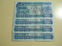 Lot 4 Banknotes 500 Meticais 1983 Mozambique - Monete & Banconote